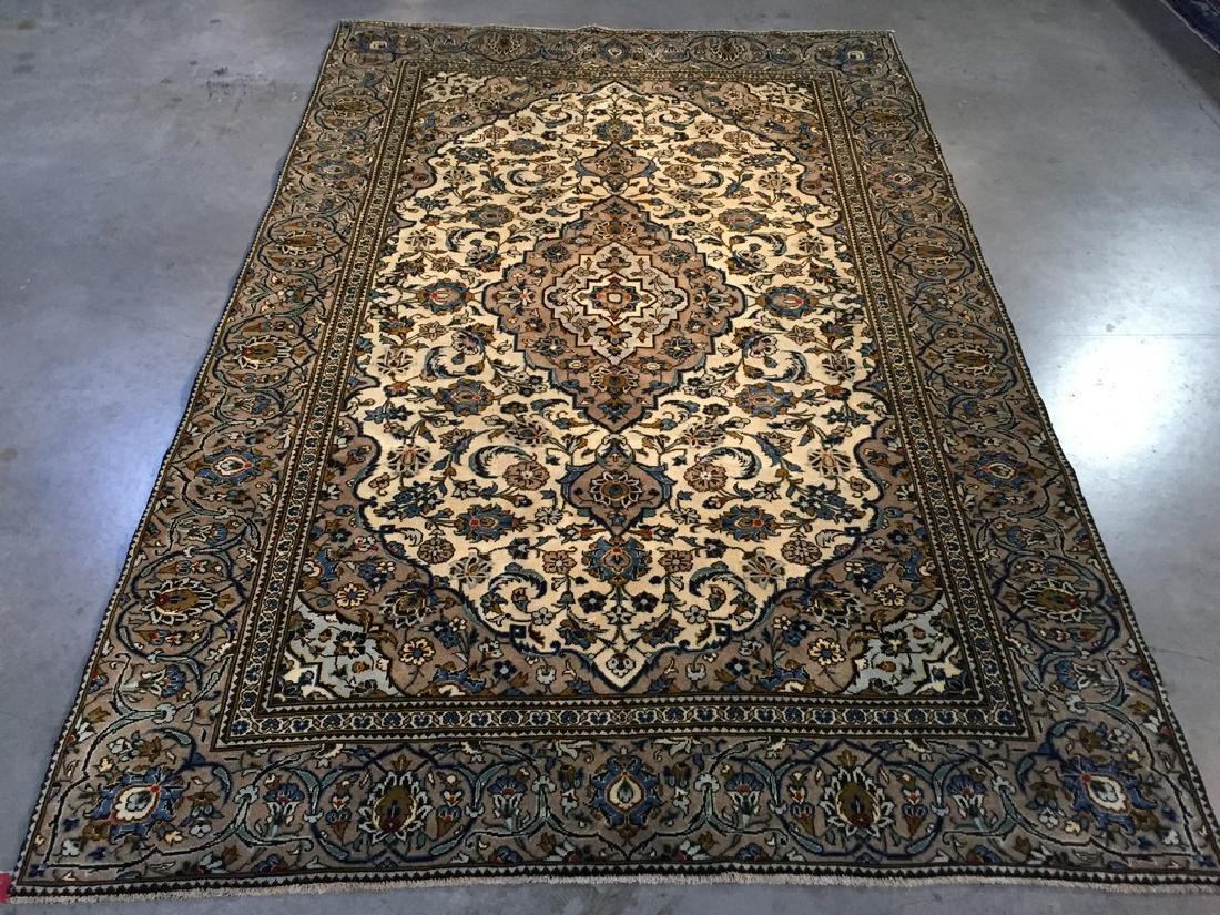 Vintage Persian Kashan Rug 6.2x9.3