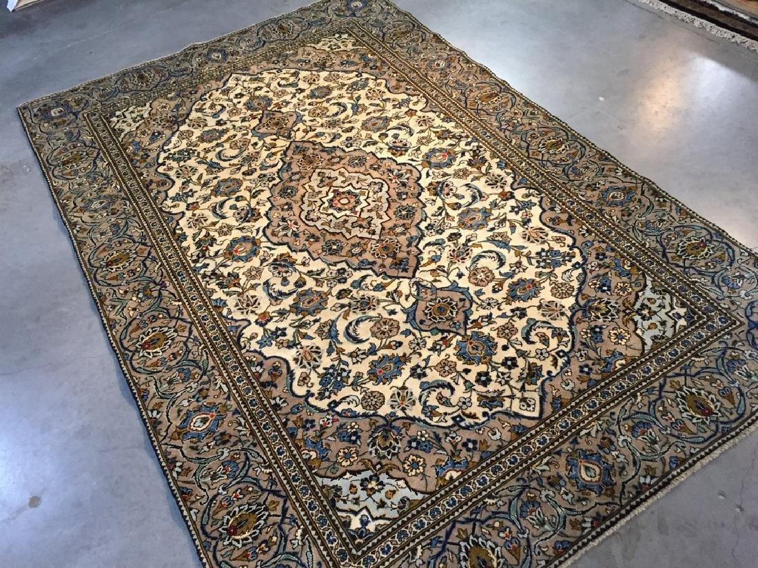 Vintage Persian Kashan Rug 6.2x9.3 - 2