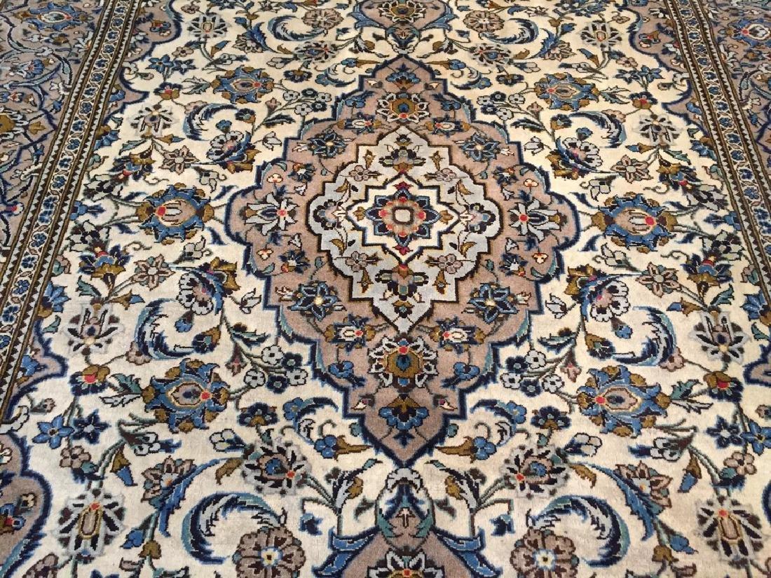 Vintage Persian Kashan Rug 6.2x9.3 - 3
