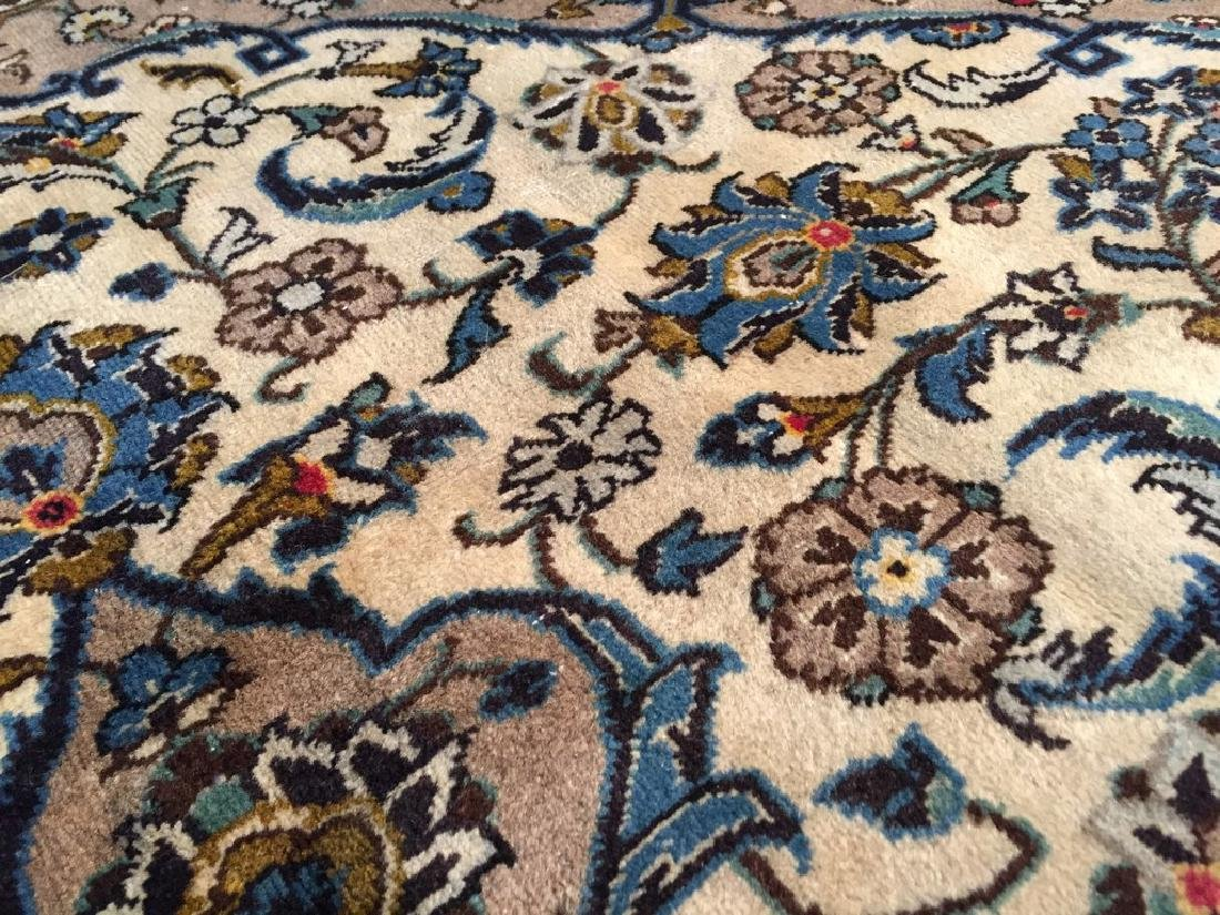 Vintage Persian Kashan Rug 6.2x9.3 - 4