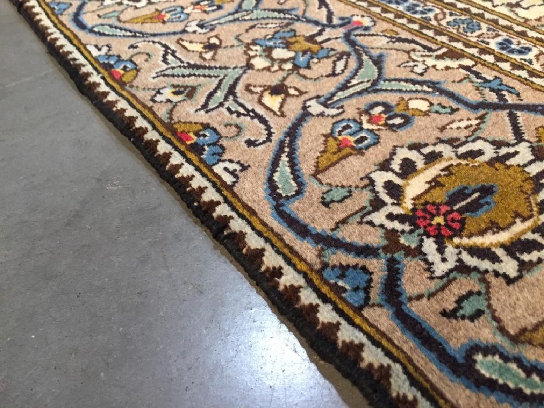 Vintage Persian Kashan Rug 6.2x9.3 - 5
