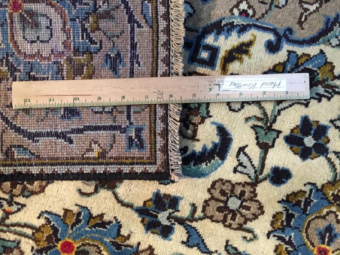 Vintage Persian Kashan Rug 6.2x9.3 - 6