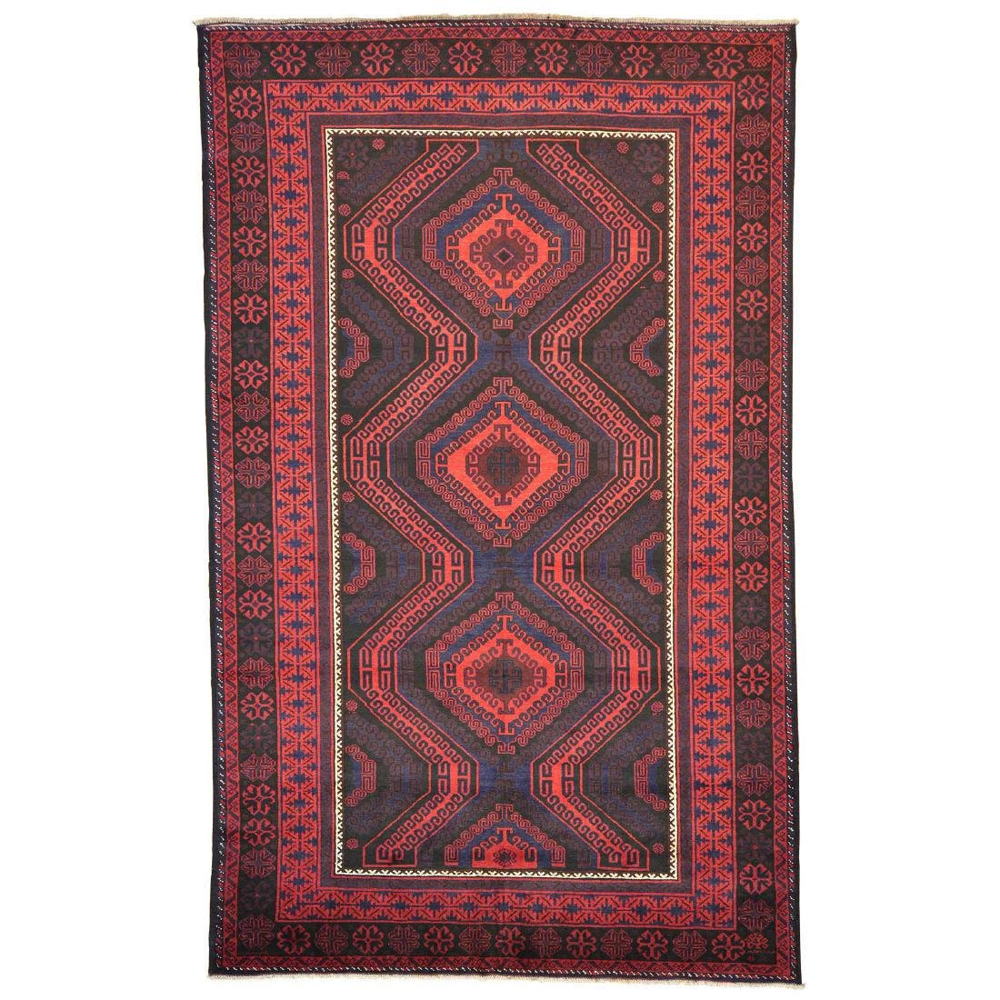 Tribal Design Persian Baluch Hand Made Rug 6.7x10.8