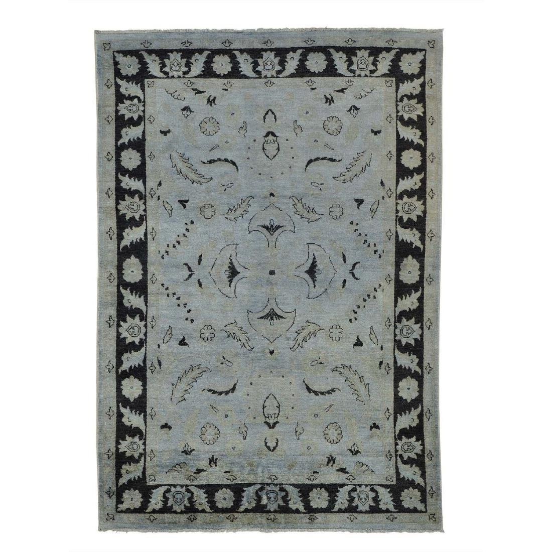 Overdyed Sultanabad Hand Knotted Wool Rug 5.6x8
