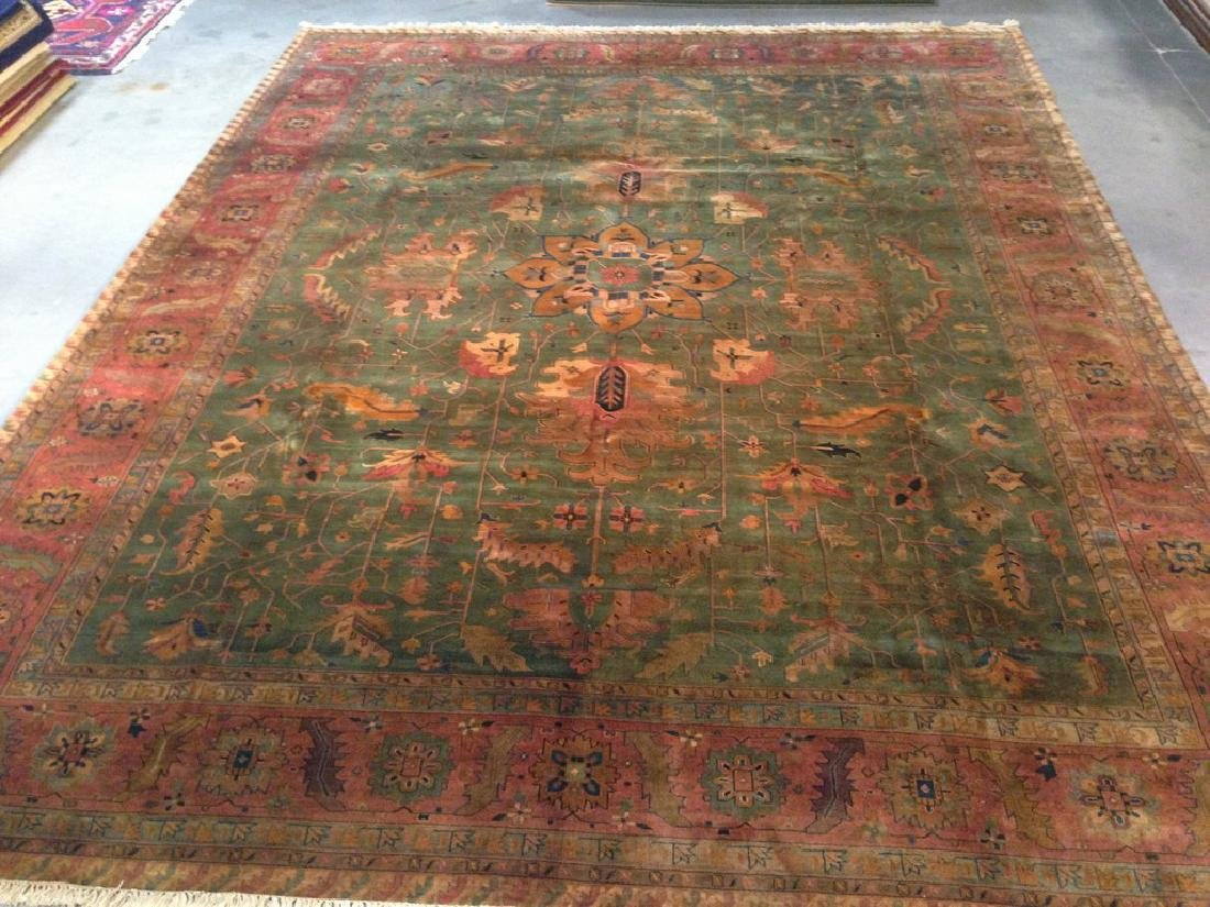 Fine Hand Knotted Vintage Reproduction Agra Rug 9.3x12