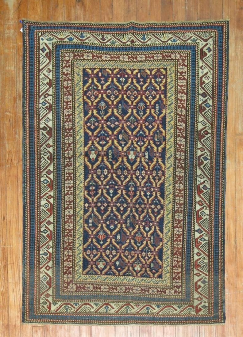 Antique Caucasian Shirvan Kuba Rug 3.2x4.7