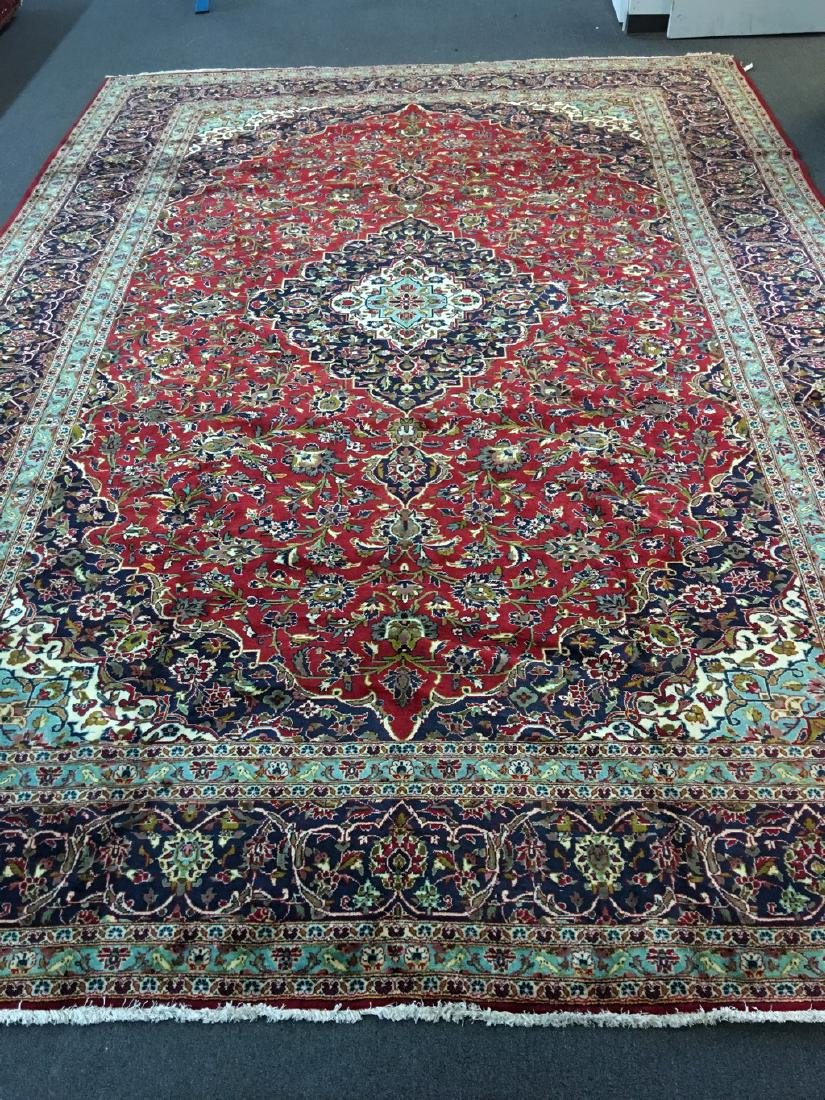 Authentic Oversize Persian Kashan Rug 11.2x15.10