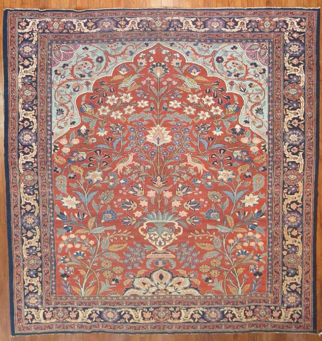 Antique Persian Tabriz Rug 10x12.6