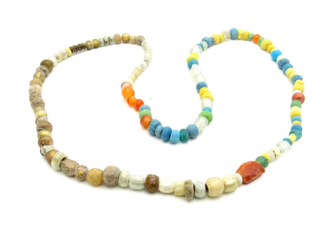 Viking Coloured Glass Necklace - 100+ Beads