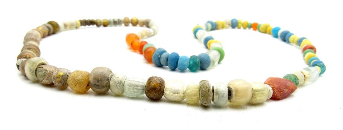 Viking Coloured Glass Necklace - 100+ Beads - 2