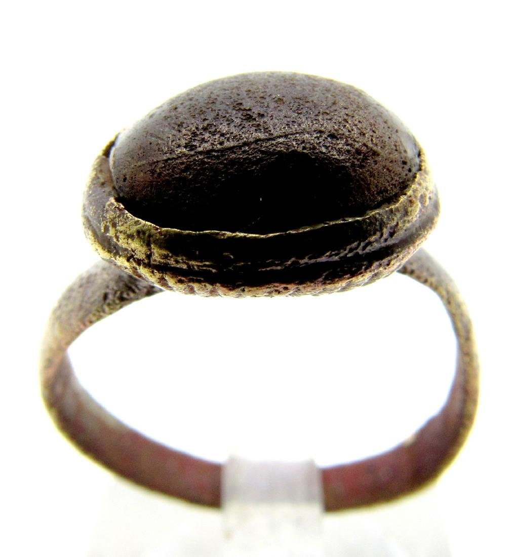 Medieval Ring with Black Stone in Bezel