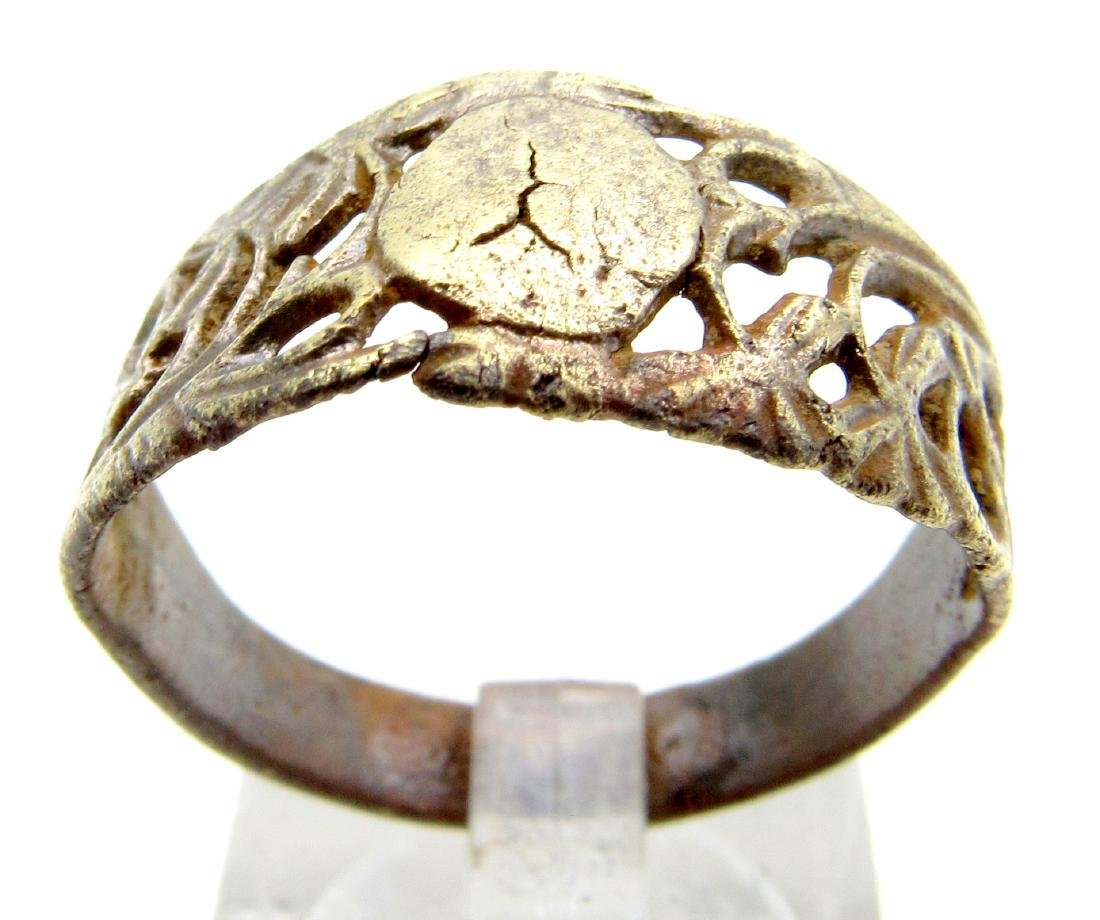 Tudor Wedding Ring with Open Work Design