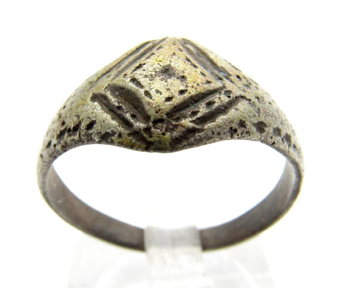 Ancient Roman Ring with Diamond Shaped Bezel
