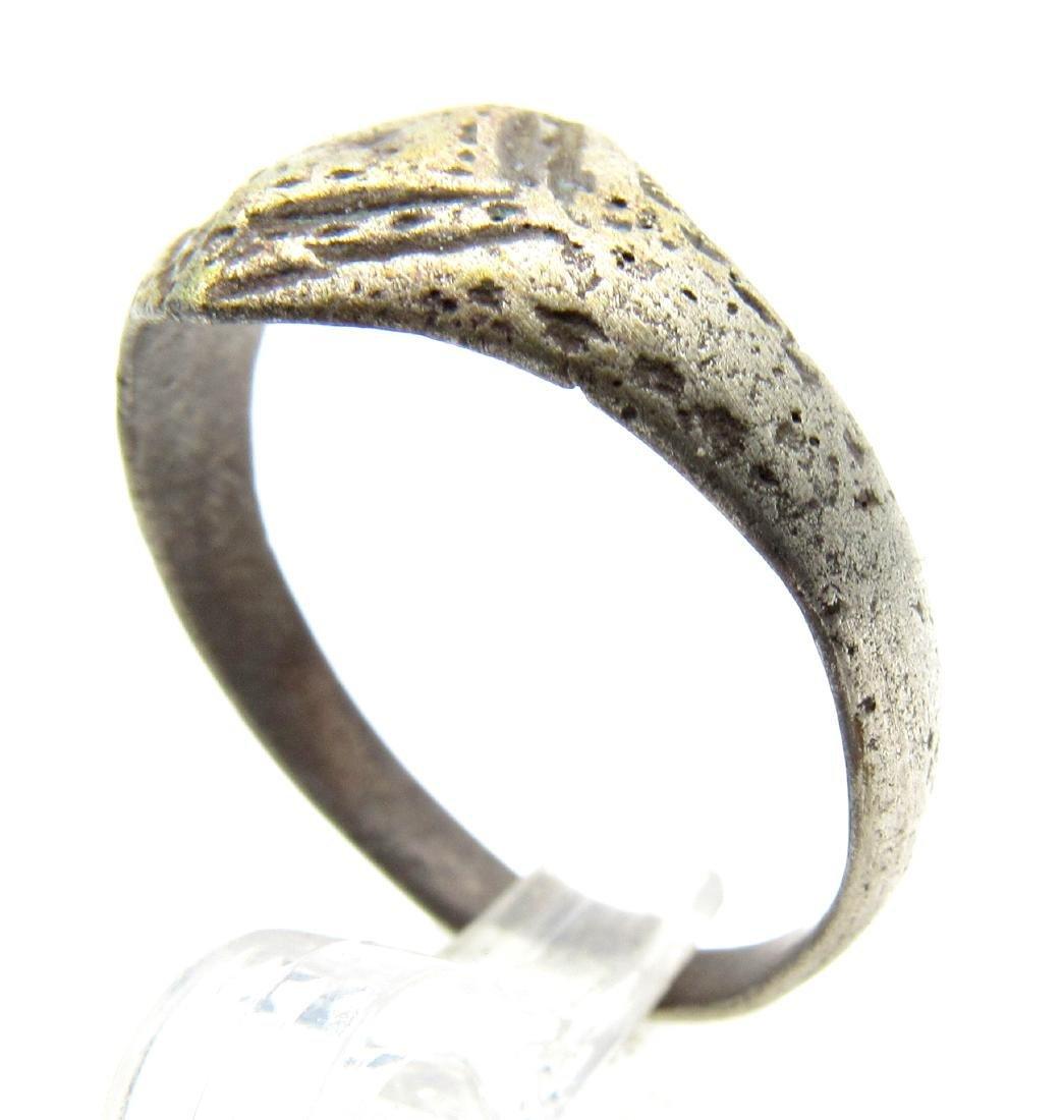 Ancient Roman Ring with Diamond Shaped Bezel - 2