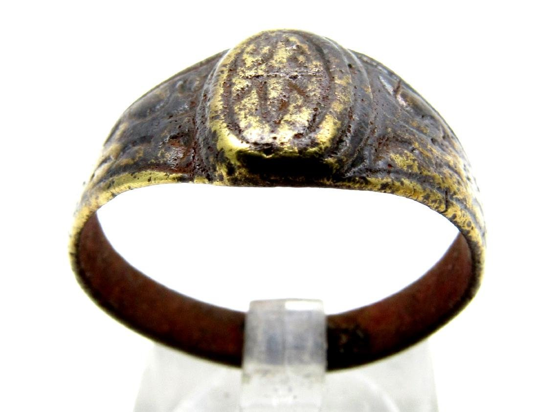 Tudor period wedding ring with Floral decoration