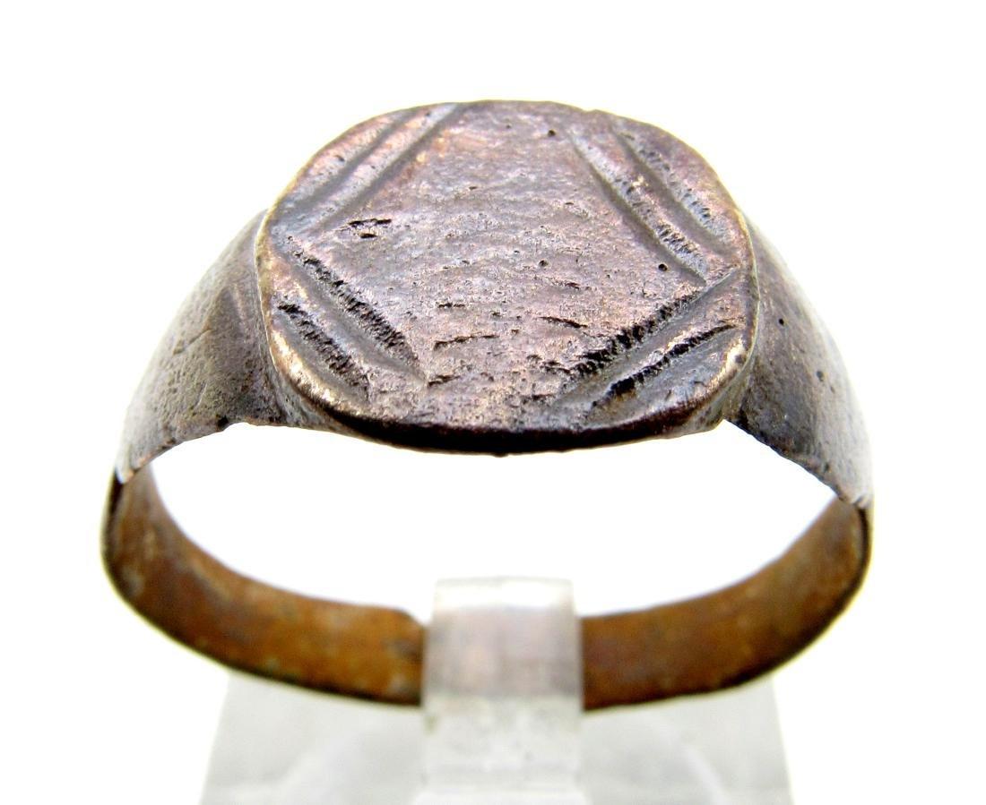 Roman Legionary Ring wtth Decorated Bezel