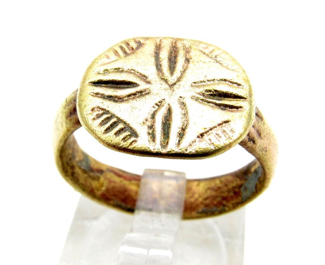 Knights Templar Ring with Cross