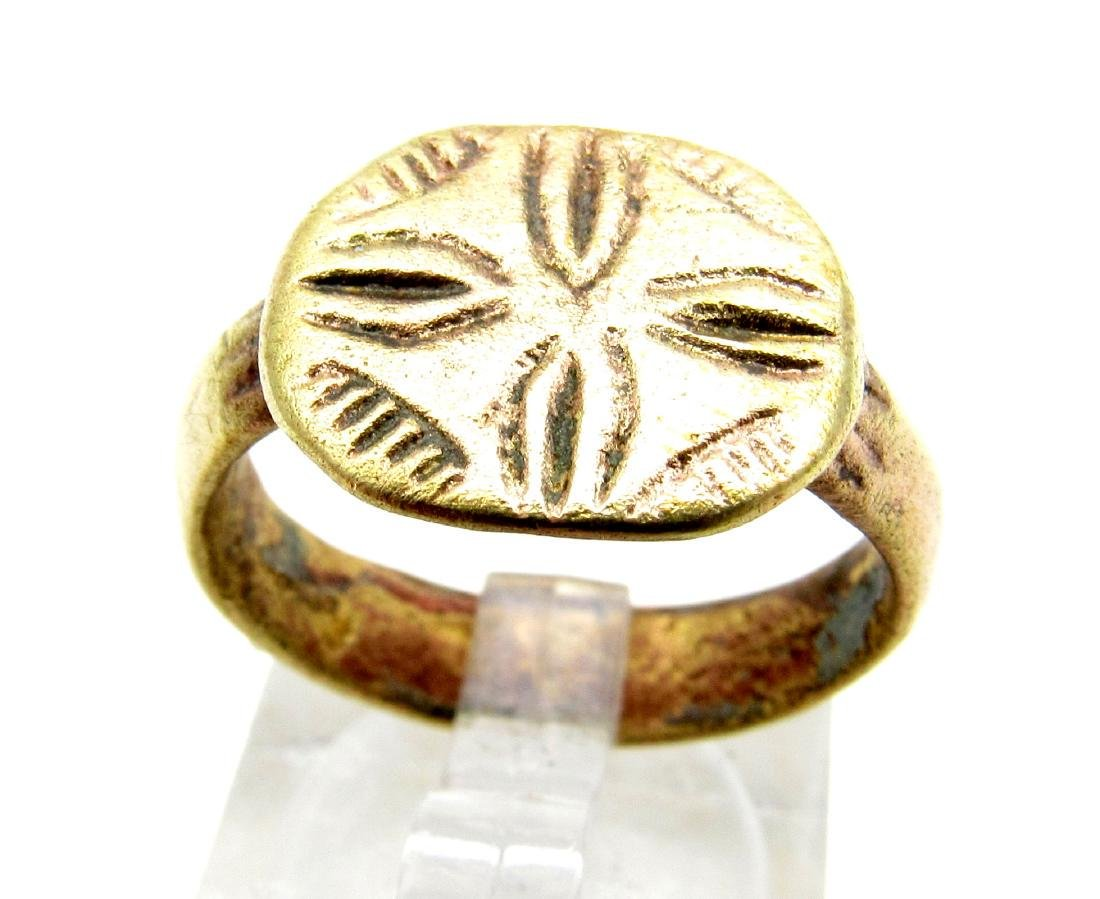 Knights Templar Ring with Cross
