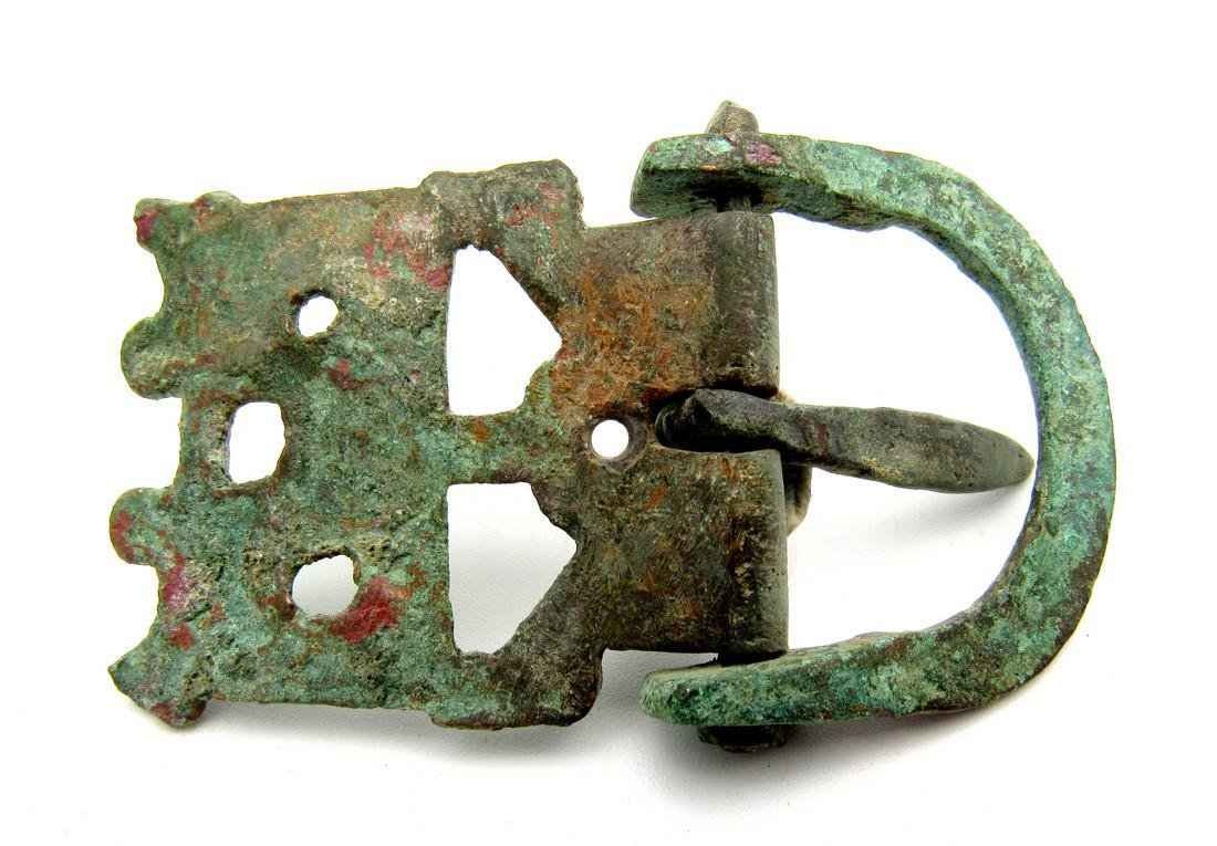 Roman Legioanry Belt Buckle with Hinged Plate - 2