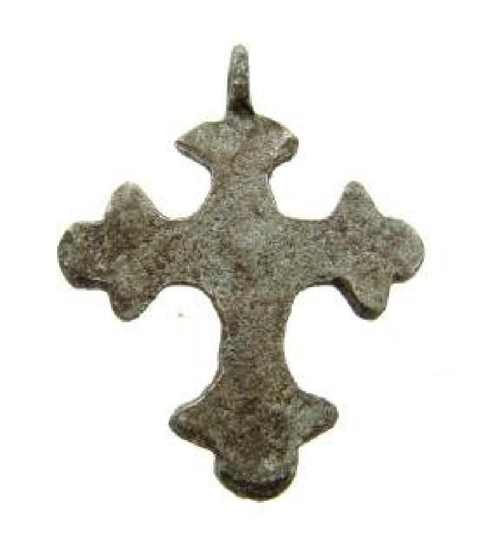 Late/ post Medievaldecorated cross pendant - 2