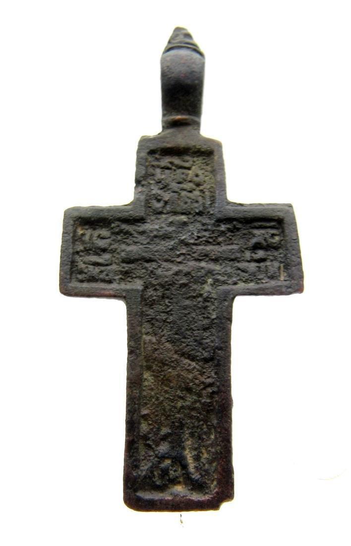 Late/post Medievaldecorated cross pendant - 2