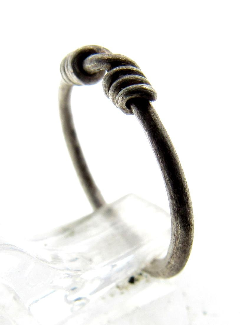 Medieval Viking Silver Knot Ring - 2