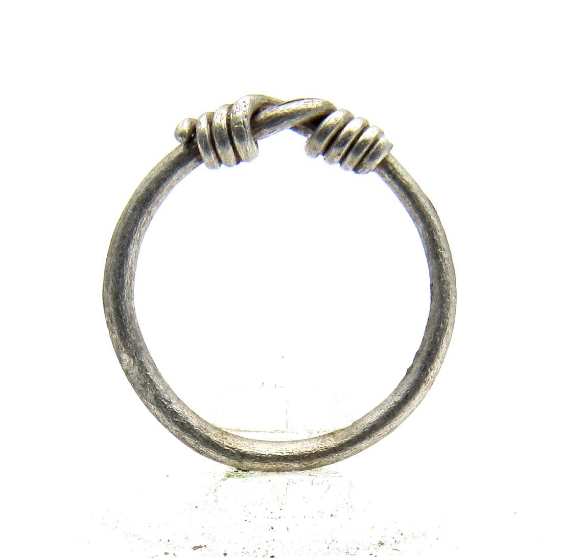 Medieval Viking Silver Knot Ring - 3