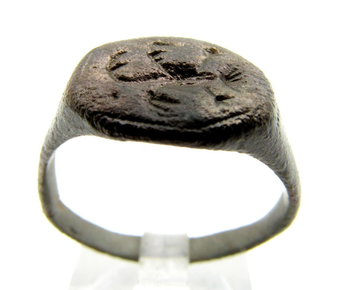 Medieval French Ring with Pheonix on Bezel