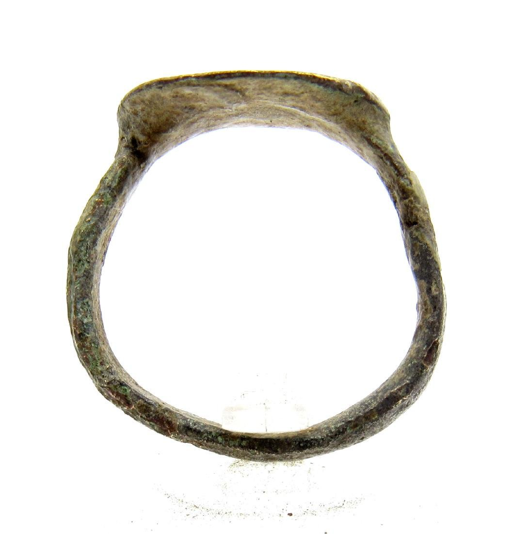 Ancient Roman Ring with Hunter and Forrest - 3