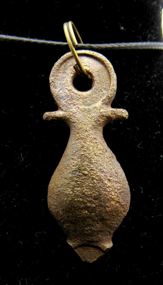 Ancient Roman Stylized Phallus Pendant