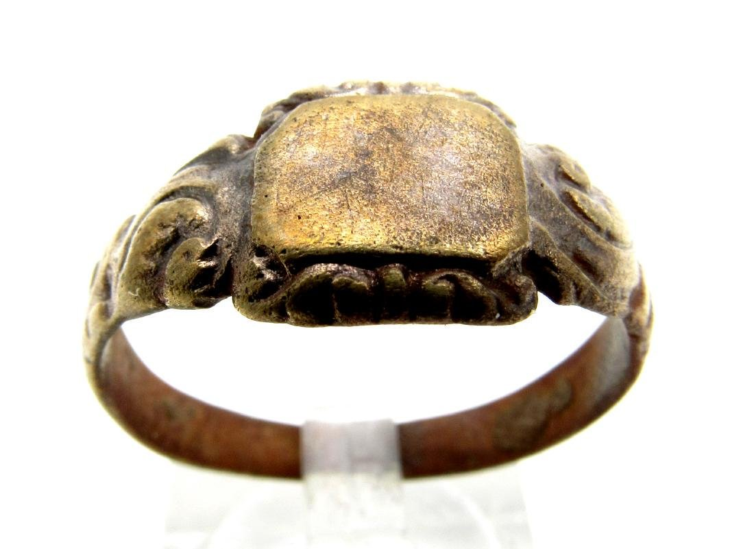 Late Medieval Tudor Ring with Floral Decoration