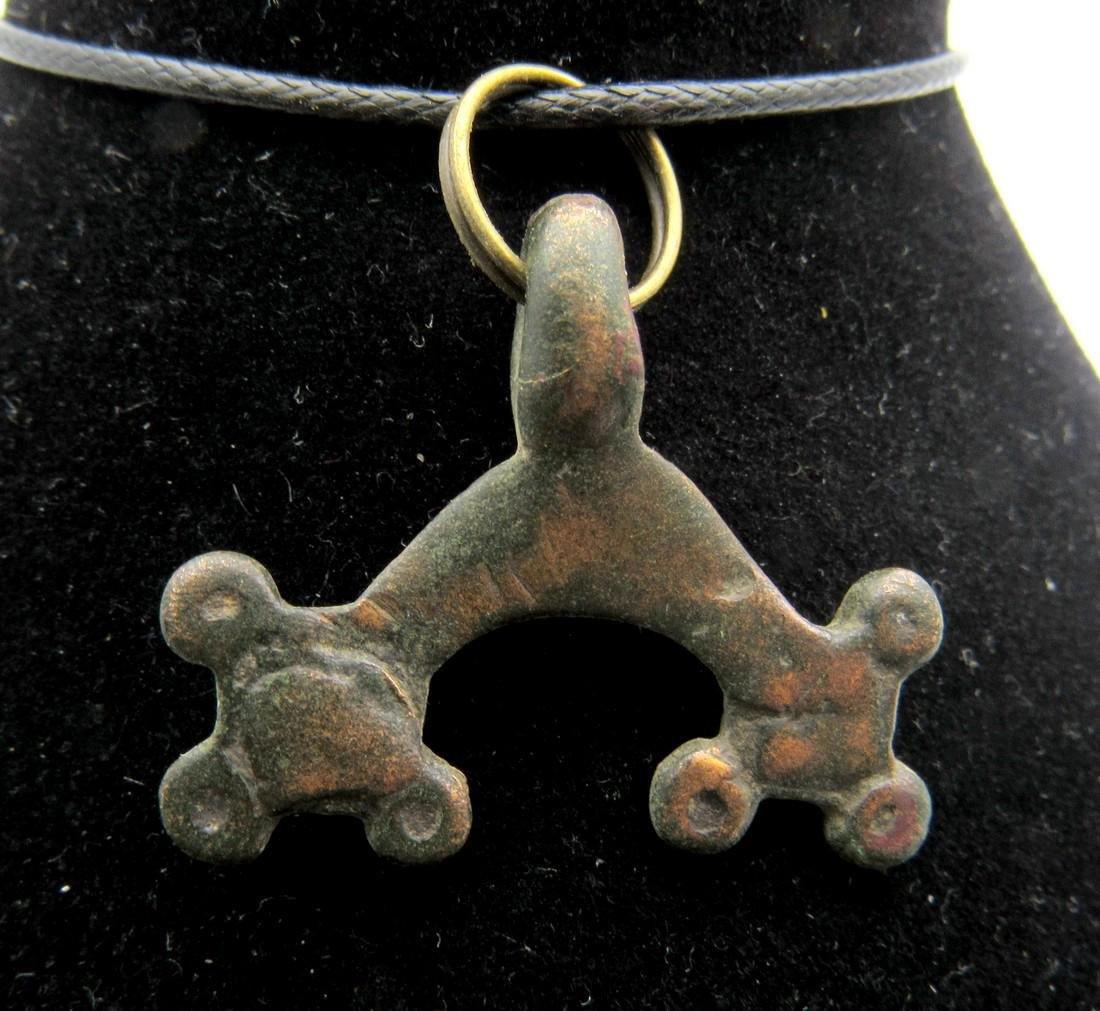 Medieval Viking Lunar Pendant with Enamel - 2