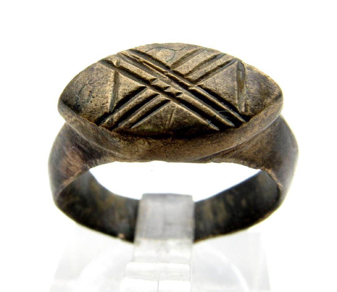 Roman Legionary Ring - 10th Legion - X pattern ( Belong