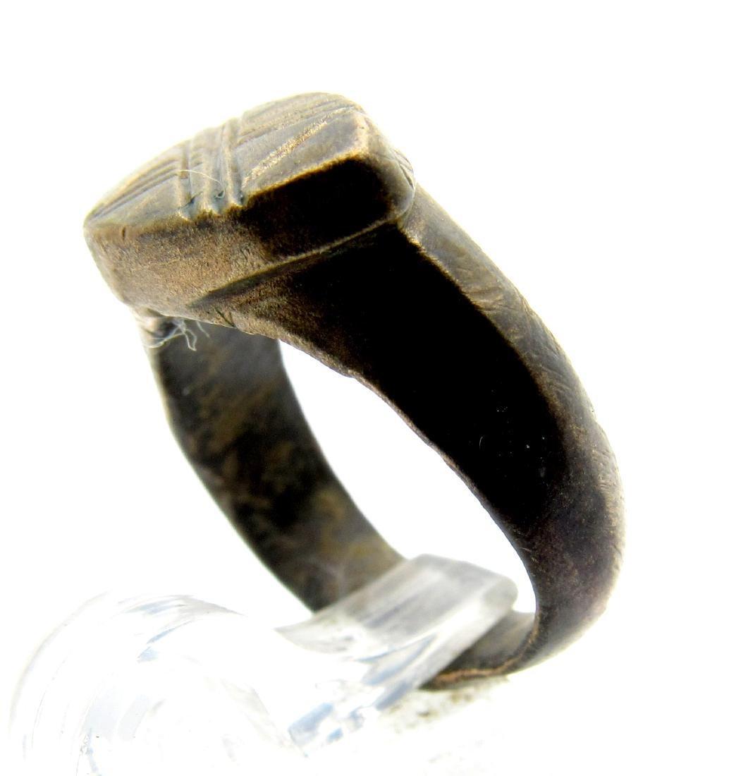 Roman Legionary Ring - 10th Legion - X pattern ( Belong - 2