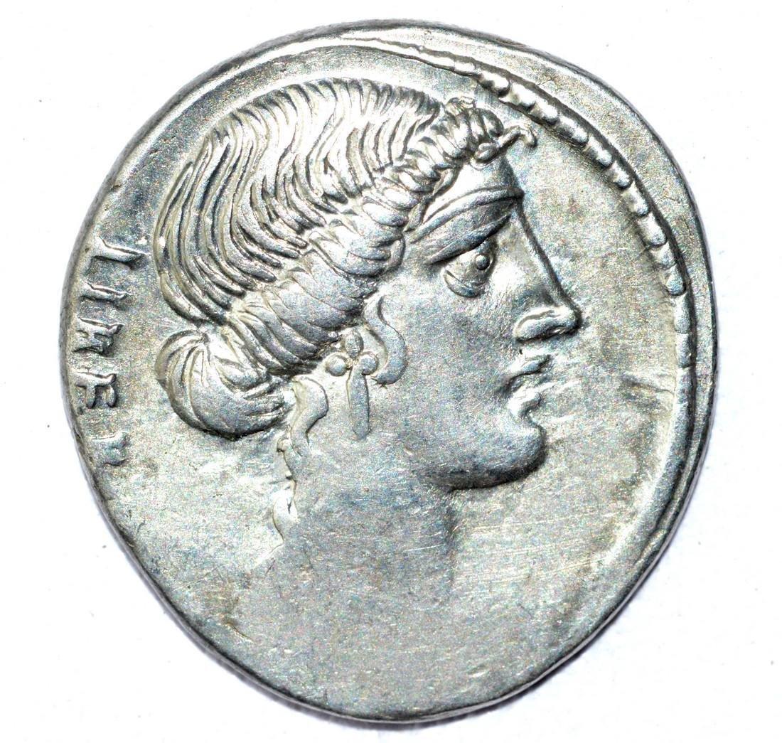 Rare AR Denarius of Junius Brutus