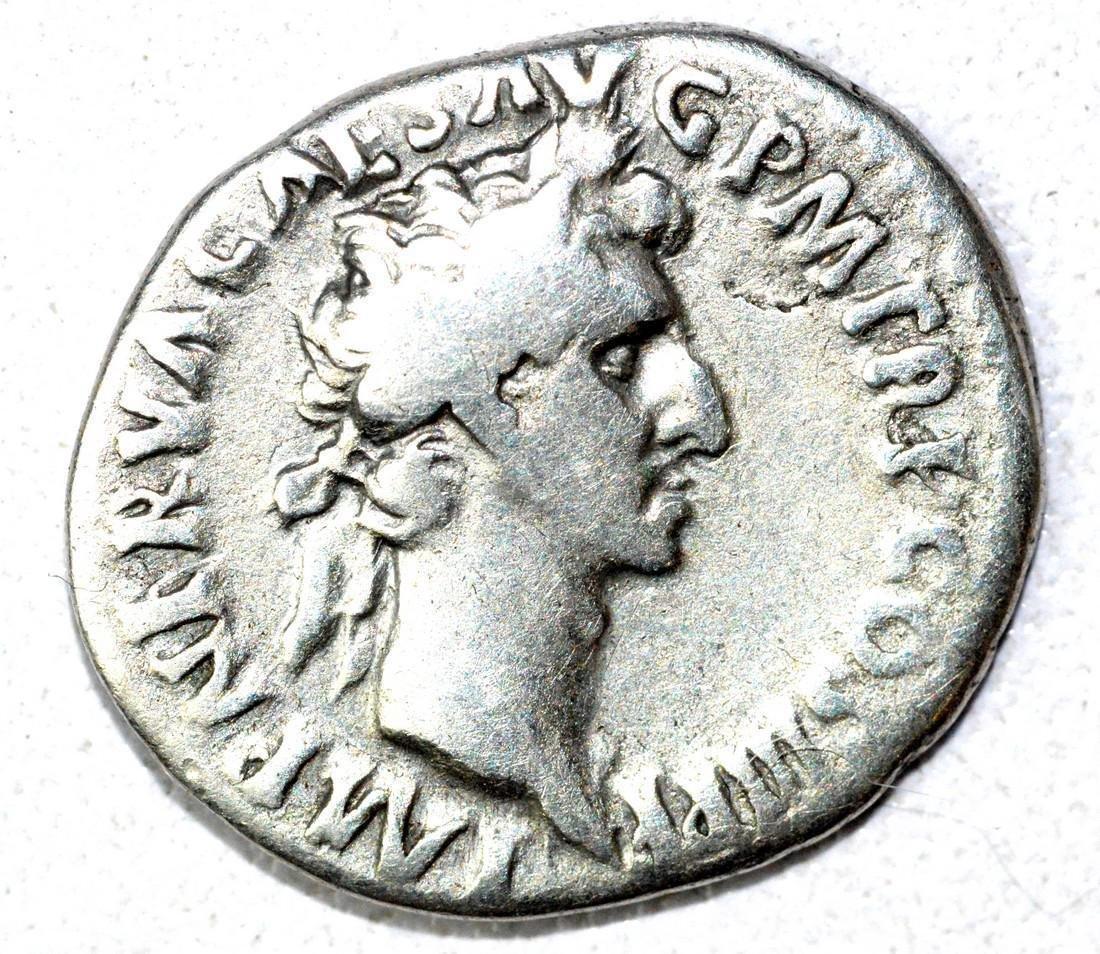Rare AR Denarius of Nerva, rv. Fortruna