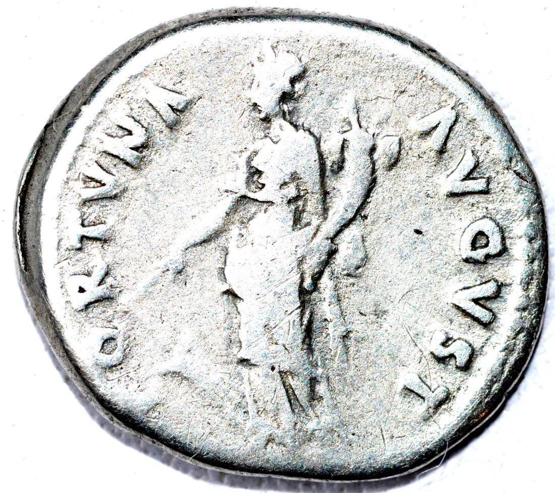 Rare AR Denarius of Nerva, rv. Fortruna - 2