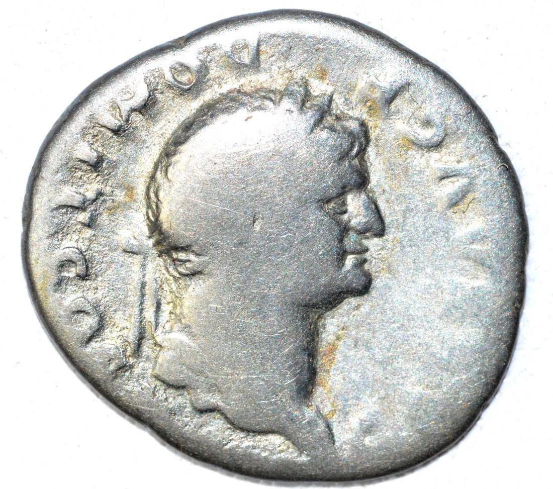 Roman AR Denarius of Dmitian, rv. Horseman