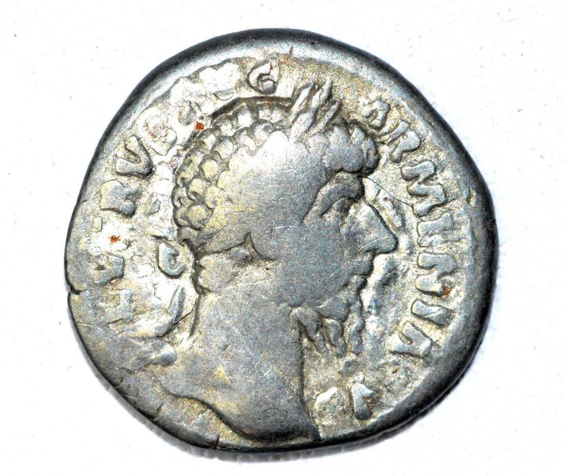 Roman Denarius of Lucius Verus, rv. Mars