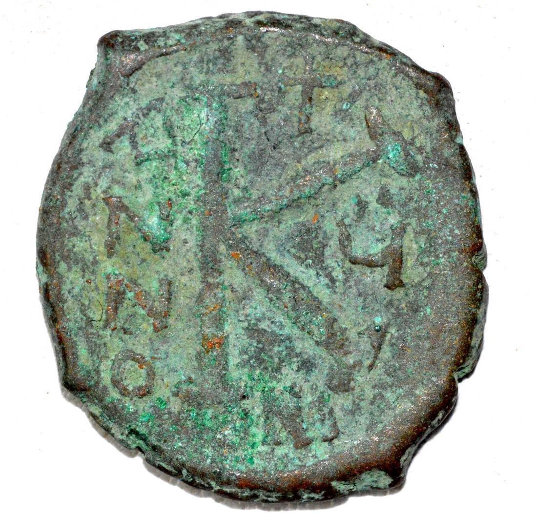 "Byzantine AE24 ""K"" Follis Coin - 2"