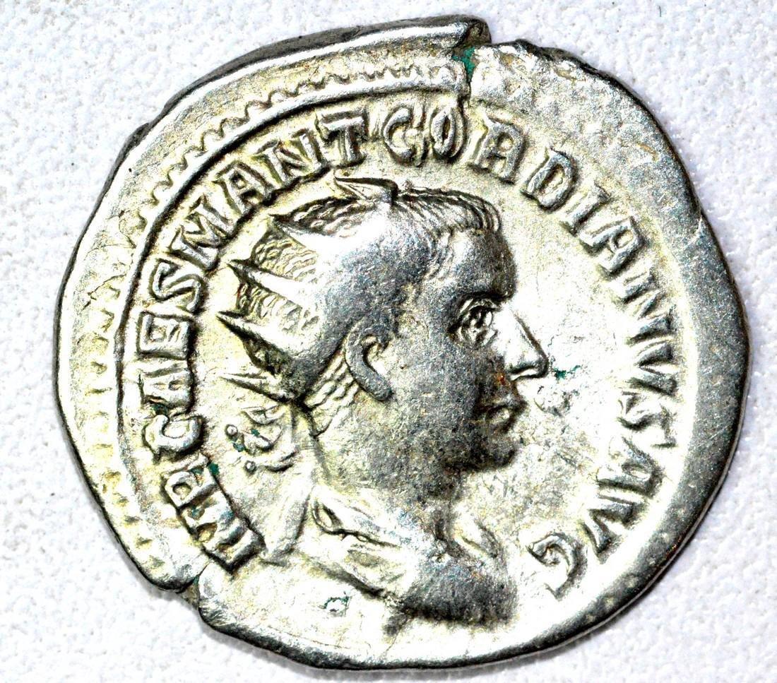Roman AR Radiate of Gordian III, rv. Providentia