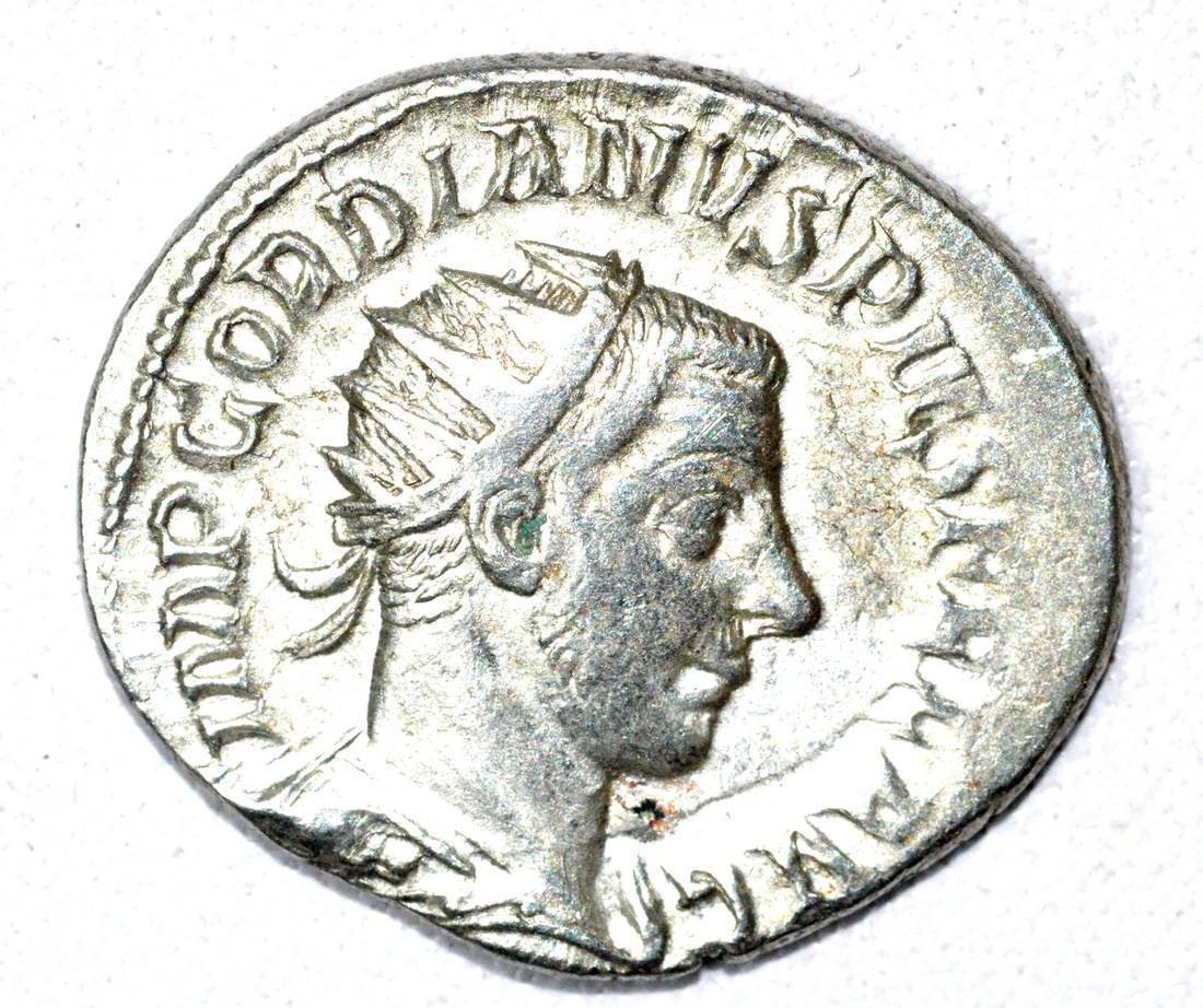 Roman AR Radiate of Gordian III, rv. Fortuna