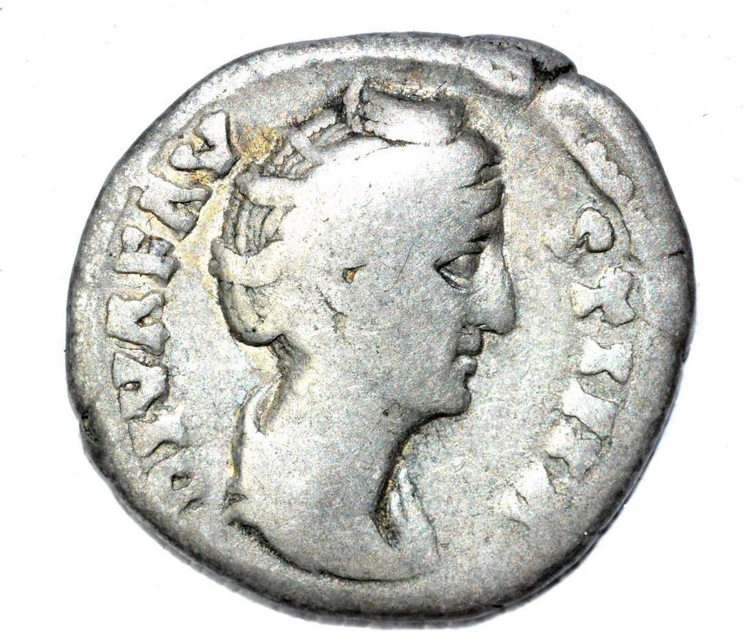 Roman AR Denarius of Faustina, rv. Avgusta