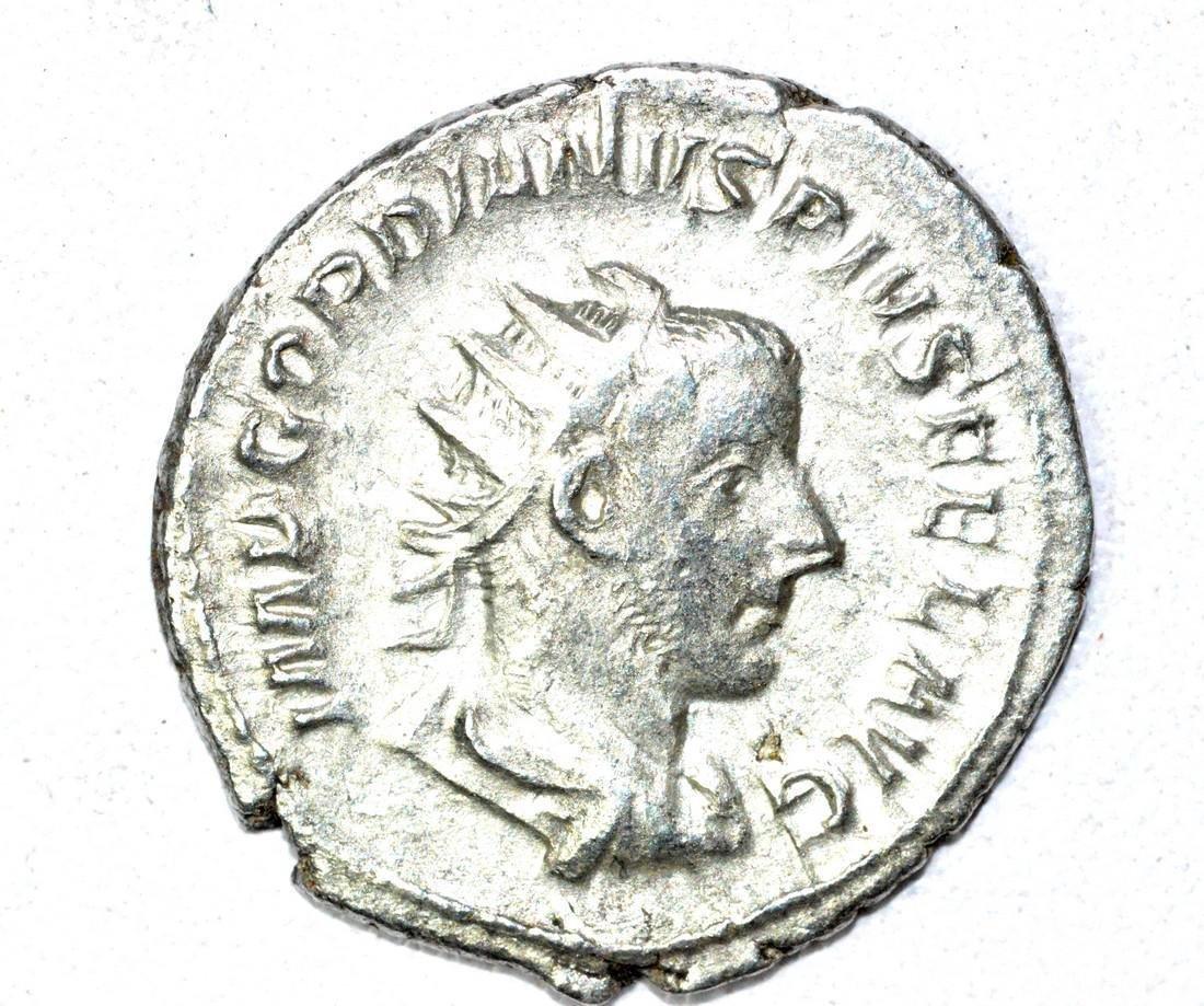 Roman AR Radiate of Gordian III, rv. Felicitas