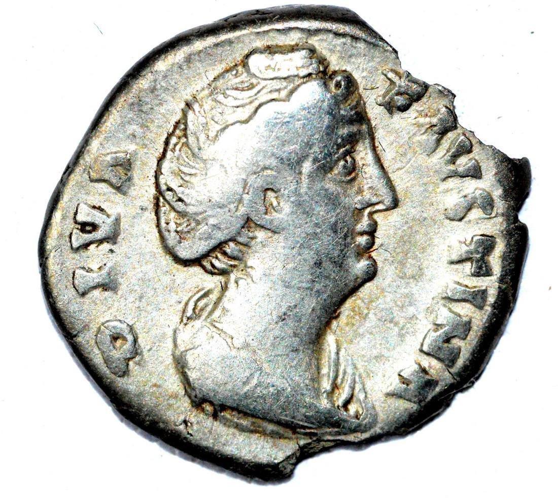 Roman AR Denarius of Faustina, rv. Aeternitas