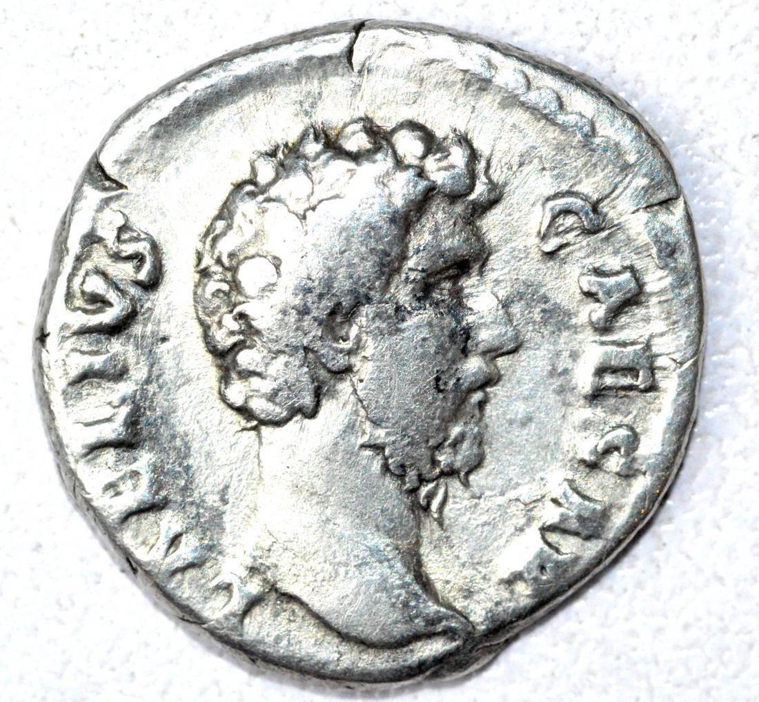Rare AR Denarius of Aelius, rv. Concordia