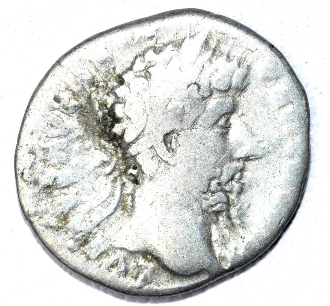 Roman Denarius of Lucius Verus, rv. Providentia