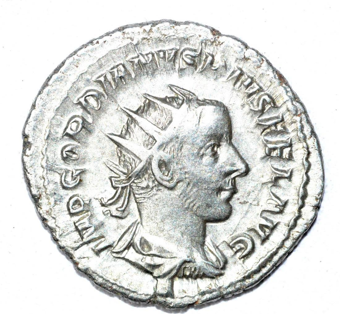 Roman AR Radiate of Gordian III, rv. Apollo