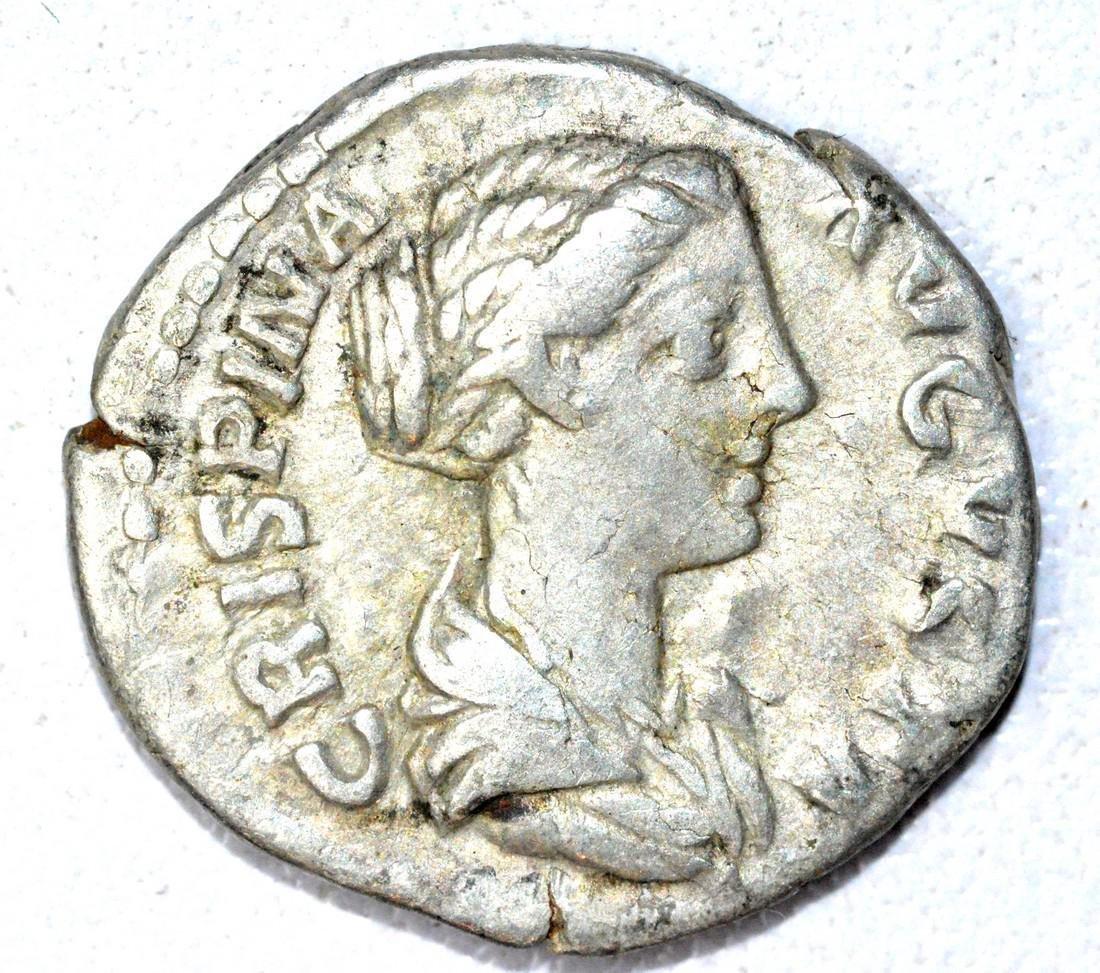 Roman AR Denarius of Crispina, rv. Venus