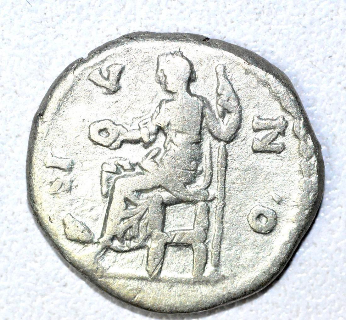Roman AR Denarius of Faustina, rv. Juno - 2